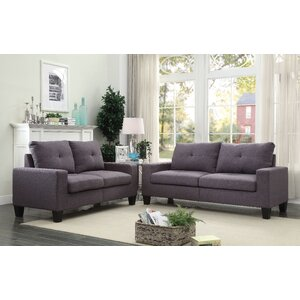 Platinum II 2 Piece Living Room Set