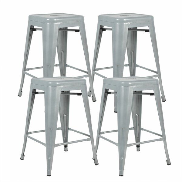 Caylee 24'' Counter Stool (Set of 4) by Williston Forge Williston Forge