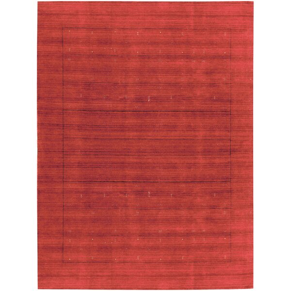 One-of-a-Kind Gabbeh Hand-Knotted Wool Red Area Rug by Bokara Rug Co., Inc.