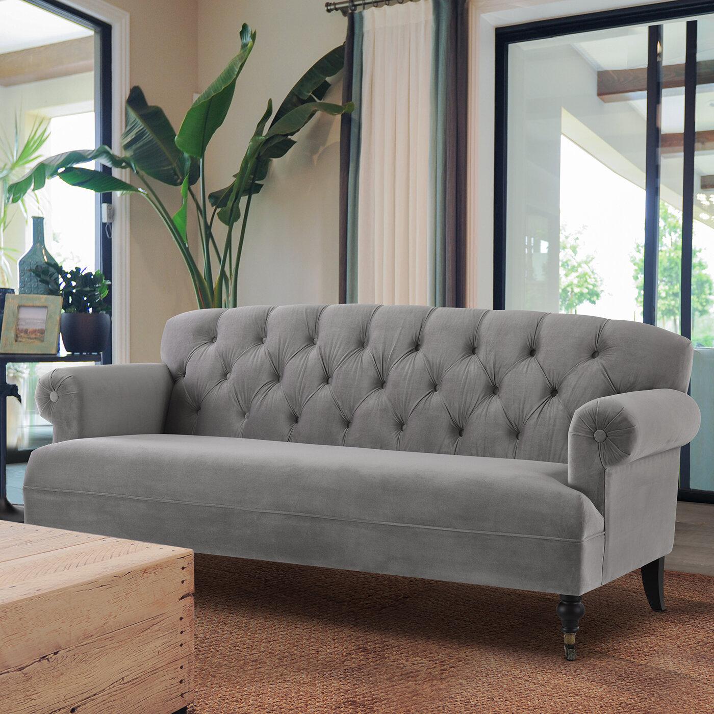 Lomeli Tufted Rolled Arm Sofa