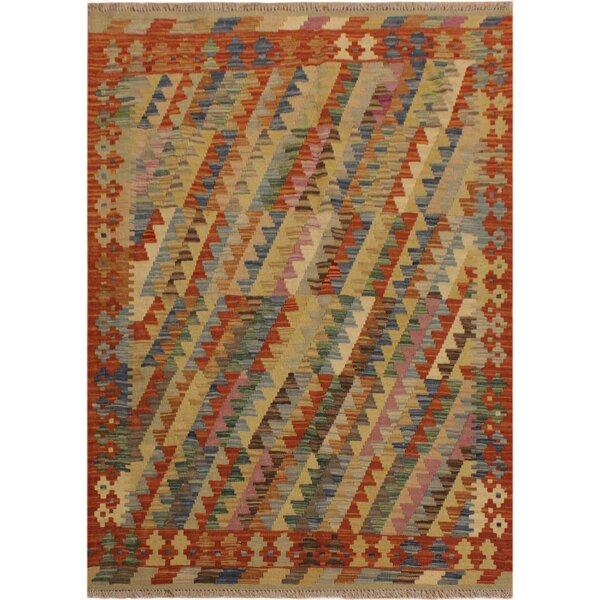 One-of-a-Kind Aalborg Hand-Woven Brown/Blue Area Rug by Isabelline