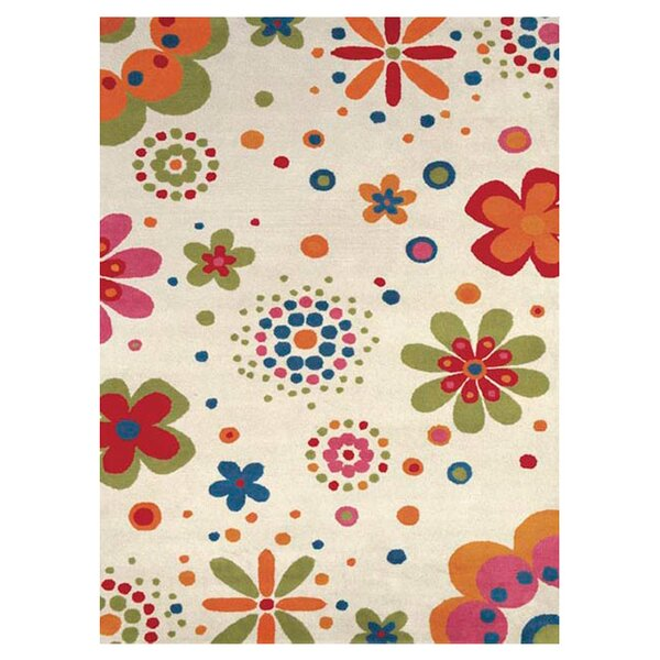 Fantasia Fan Girls Beige Bouquet Area Rug by Dynamic Rugs