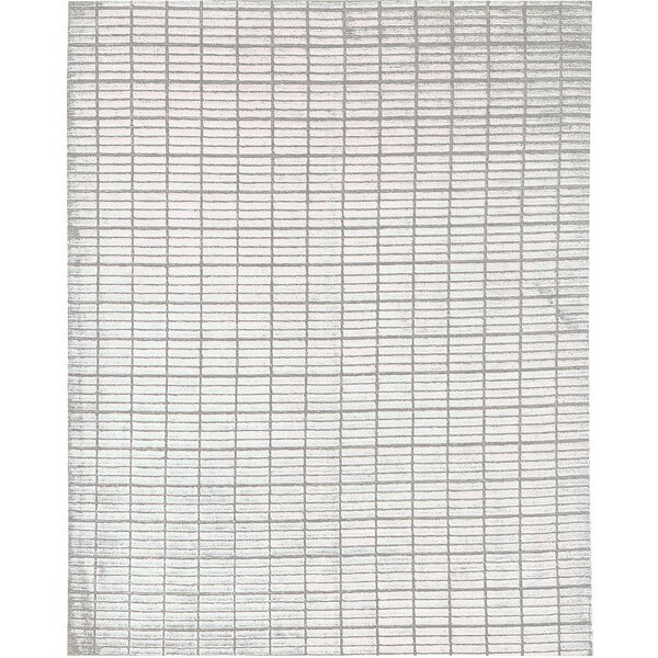 Indian Hand-Knotted Wool Gray Area Rug by Bokara Rug Co., Inc.