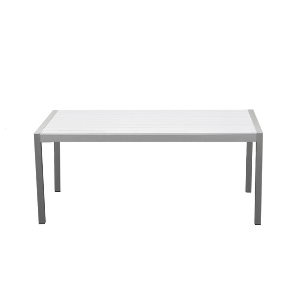 Breeze Metal Dining Table by Orren Ellis
