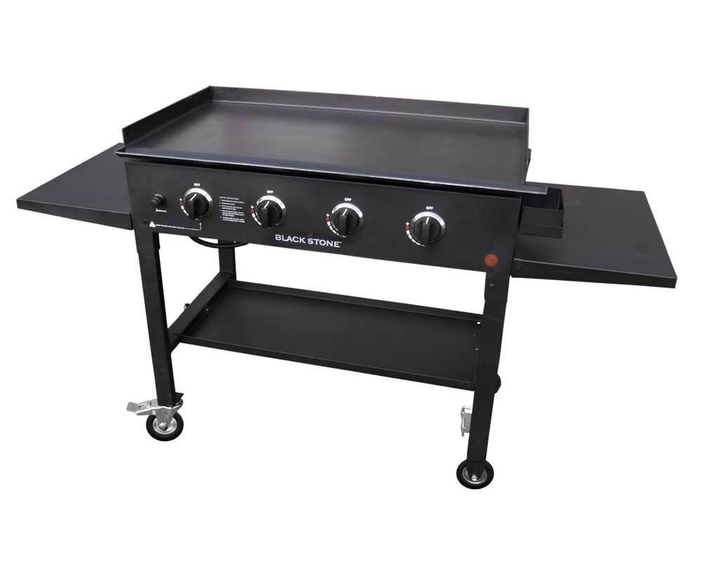 blackstone cooking station 4 burner propane gas grill with side