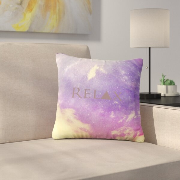 Relax by Rachel Burbee Outdoor Throw Pillow by East Urban Home