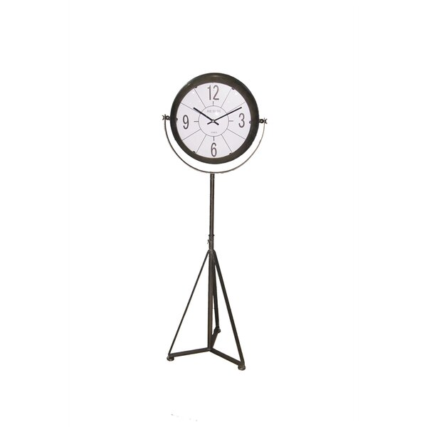 Rustically Classy Metal 60 Floor Clock by Williston Forge