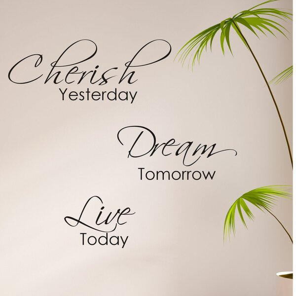 Cherish Yesterday, Dream Tomorrow, Live Today Wall Decal by Decal the Walls