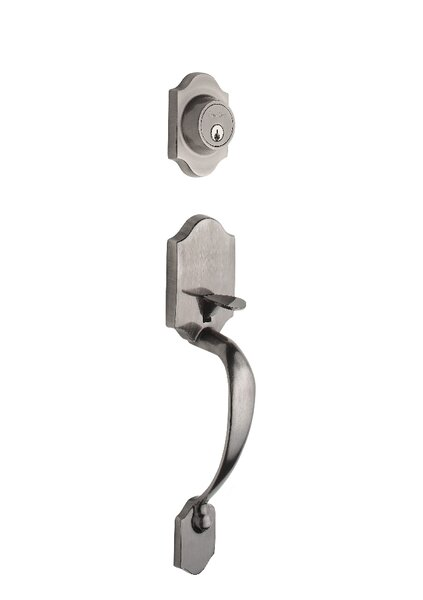 Heritage Single Cylinder Entrance Handleset, Exterior Handle Only by Copper Creek