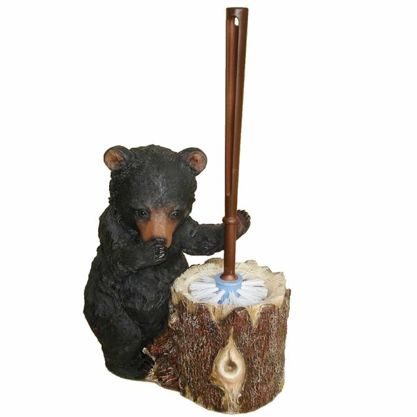 Stinky Bear Free-Standing Toilet Brush and Holder by De Leon CollectionsStinky Bear Free-Standing Toilet Brush and Holder by De Leon Collections