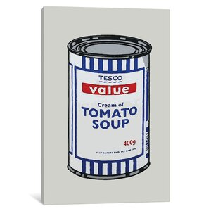 Tesco Tomato Soup Can Graphic Art on Wrapped Canvas by East Urban Home