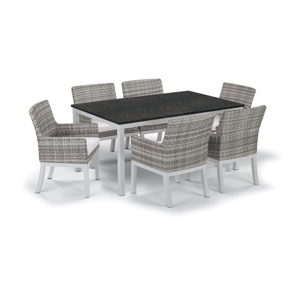 Farmington Wicker 7 Piece Dining Set by Latitude Run