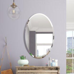 Brayden Studio Thornbury Oval Bevel Frameless Wall Mirror