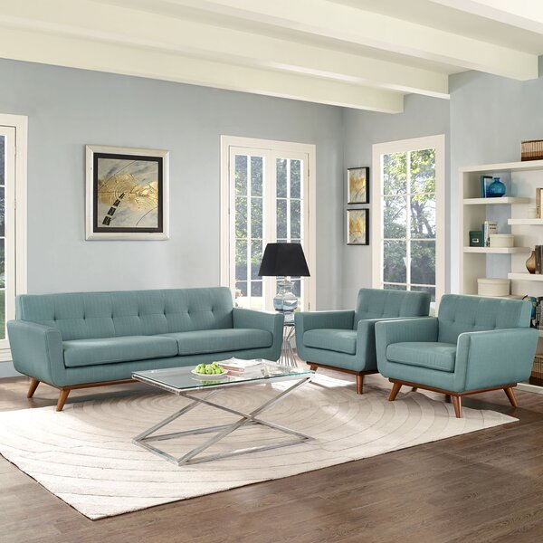 Saginaw 3 Piece Living Room Set by Corrigan Studio