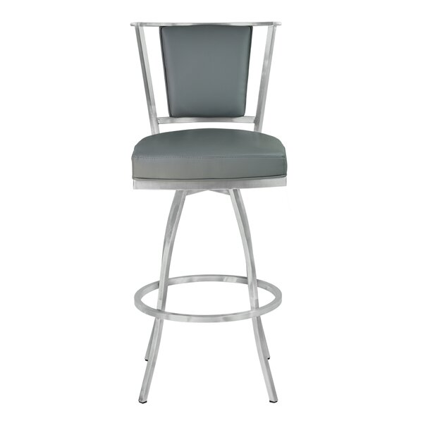 Borrelli 30 Swivel Bar Stool by Orren Ellis