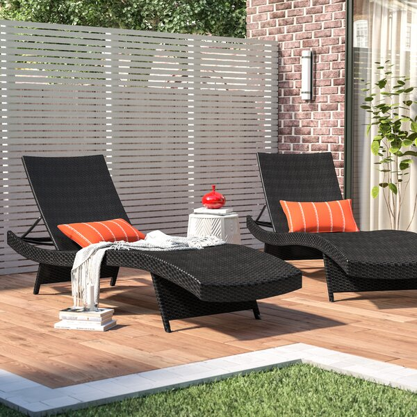 Crispin Sun Lounger Set (Set of 2) by Wade Logan