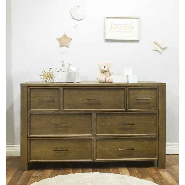 Floating 7 Drawer Double Dresser by Sorelle