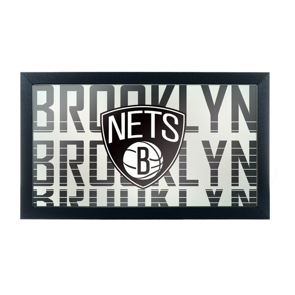 NBA City Framed Logo Accent Mirror by Trademark Gl