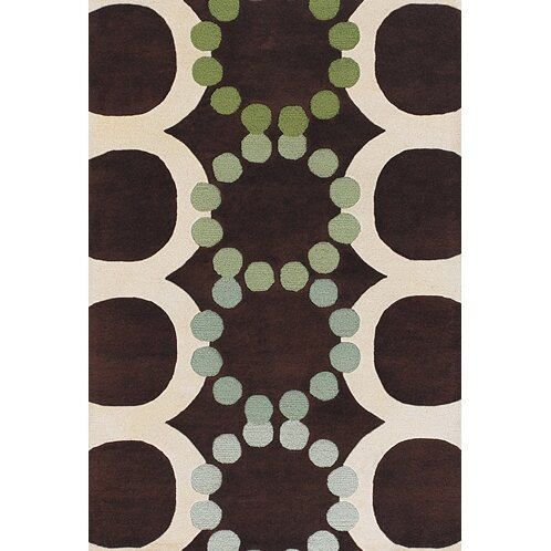 Youngman Brown/White Area Rug by Brayden Studio