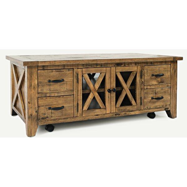 Thame Solid Wood Coffee Table with Storage by Loon Peak Loon Peak
