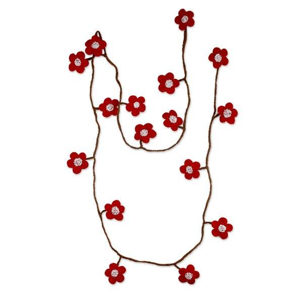 Handmade Felt Holiday Garland by Novica