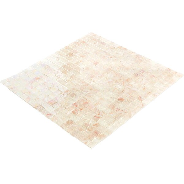 Breeze 0.62 x 0.62 Glass Mosaic Tile in Cream/Pink by Splashback Tile