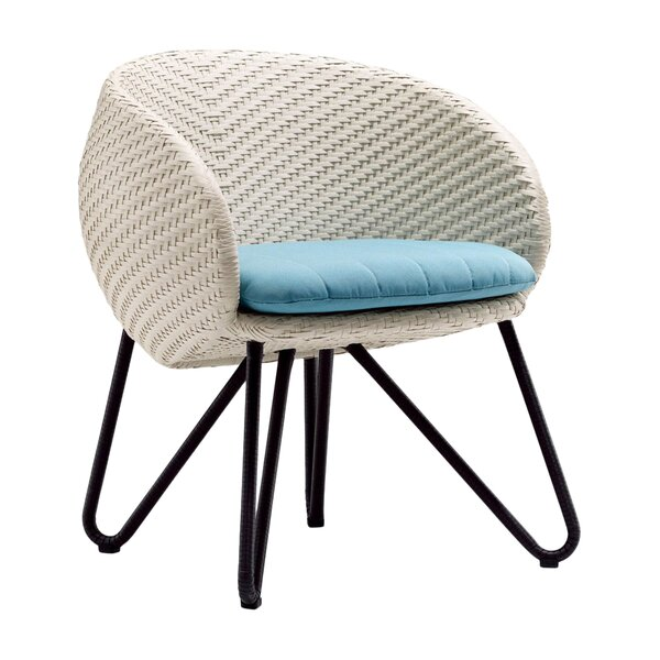 Circle Patio Dining Chair with Cushion by 100 Essentials