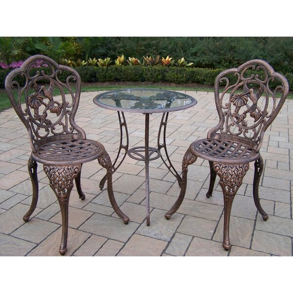 Hummingbird 3 Piece Bistro Set by Oakland Living