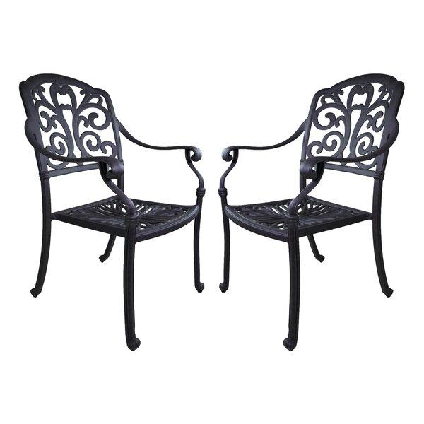 Thurston Patio Dining Chair (Set of 2) by Fleur De Lis Living