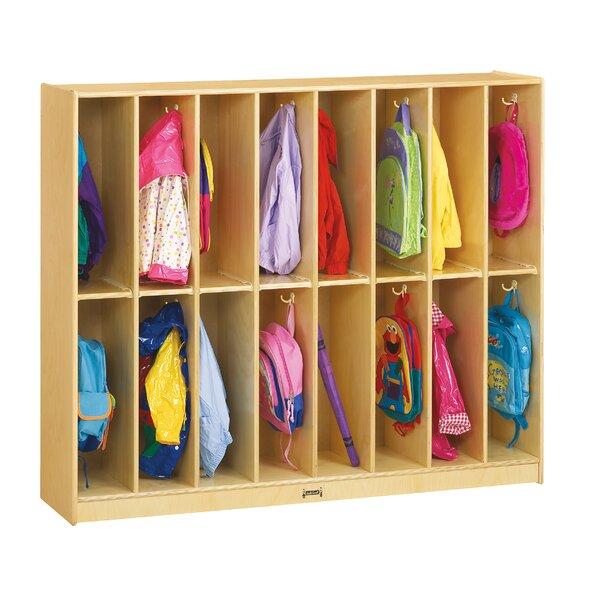 2 Tier 8 Wide Coat Locker by Jonti-Craft