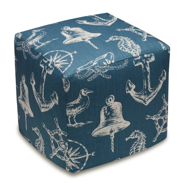 Nautical Cube Ottoman by 123 Creations
