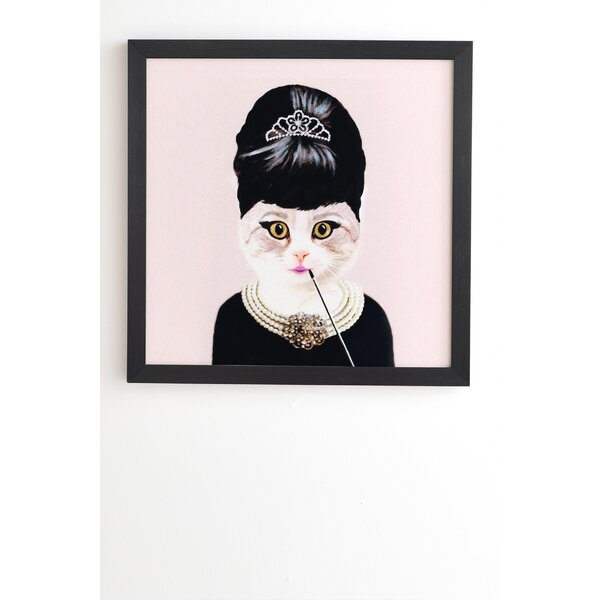 Hepburn Cat by Coco De Paris Framed Graphic Art by East Urban Home
