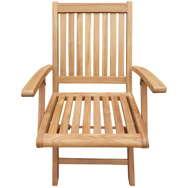 Kristopher Folding Teak Patio Dining Chair (Set of 2) by Highland Dunes