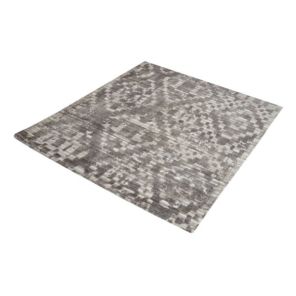 Hattem Hand-Tufted Gray/Cream Area Rug by Bungalow Rose