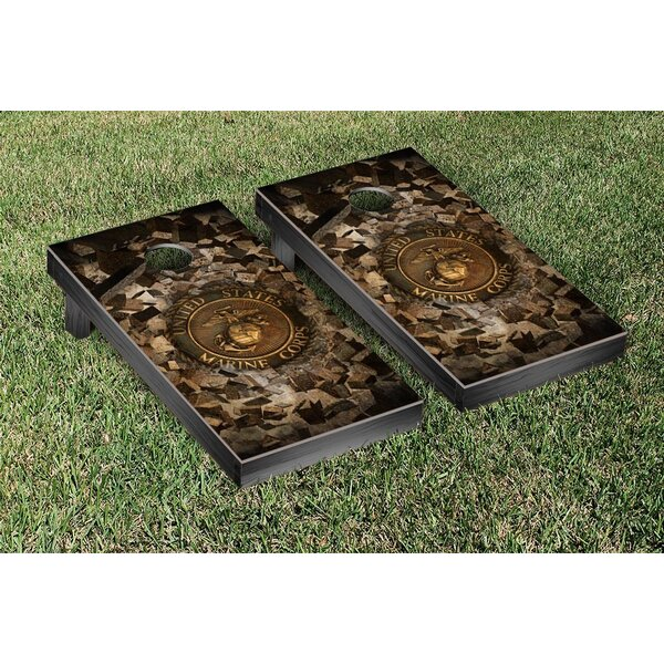 US Marine Corps Bricks Version Cornhole Game Set by Victory Tailgate