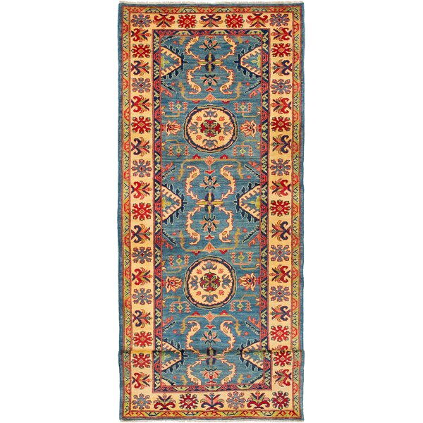 One-of-a-Kind Baretta Hand-Knotted Wool Blue/Beige Area Rug by Isabelline