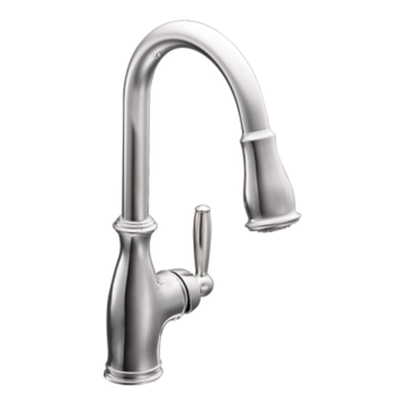 Brantford Pull Down Single Handle Kitchen Faucet With Reflex System