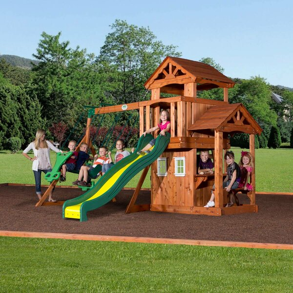 Tanglewood All Cedar Swing Set by Backyard Discovery