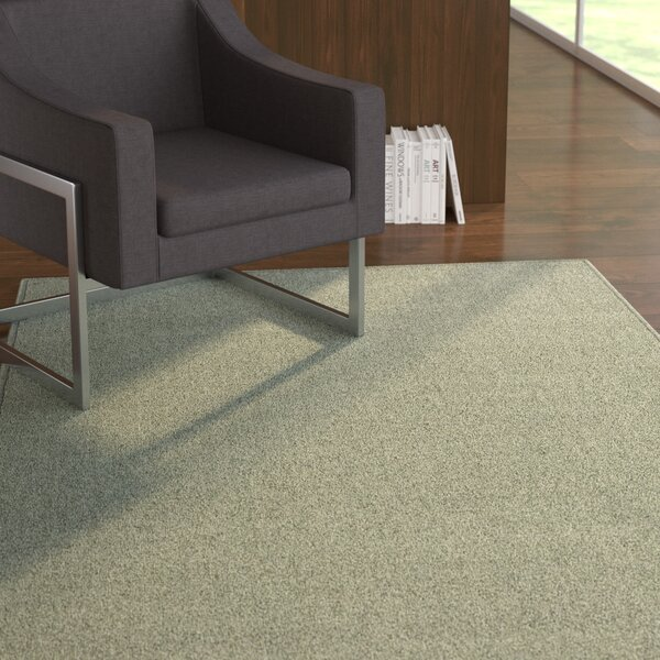 Covey Modern Teal Area Rug by Ebern Designs