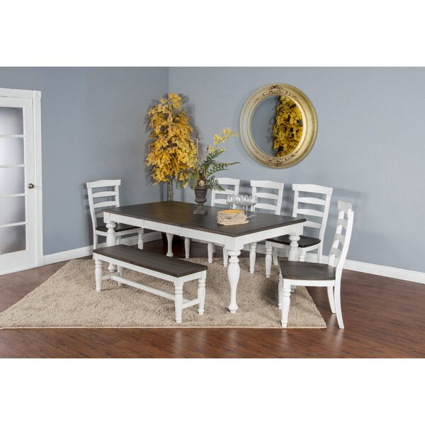 Arlene 6 Piece Extendable Solid Wood Dining Set by August Grove