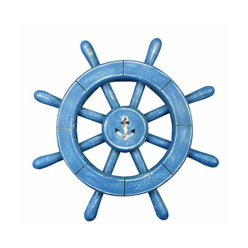 Rustic Ship Wheel Wall Décor