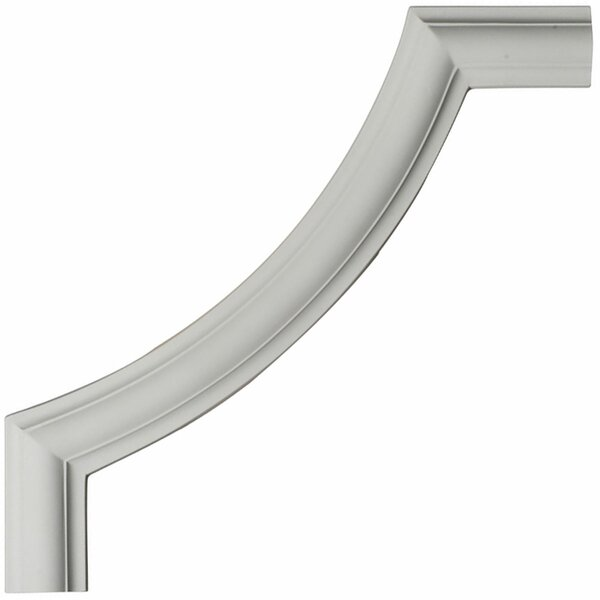 Ashford 12H x 12W x 1/2D Smooth Panel Moulding Corner by Ekena Millwork