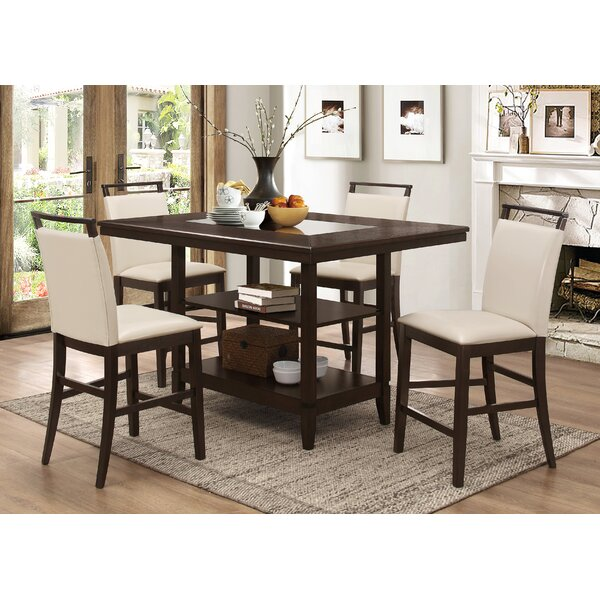 Tarra 5 Piece Counter Height Dining Set by Gracie Oaks