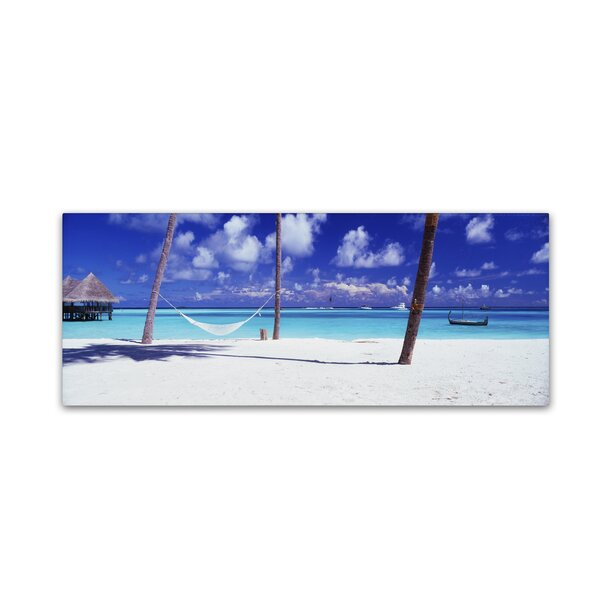 View for One-Maldives by David Evans Photographic Print on Wrapped Canvas by Trademark Fine Art