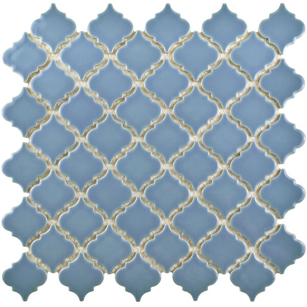 Pharsalia 12.38 x 12.5 Porcelain Mosaic Floor and Wall Tile in Light Blue by EliteTile
