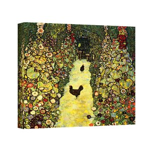 ''Garden Path with Chickens'' by Gustav Klimt Painting Print on Canvas by ArtWall