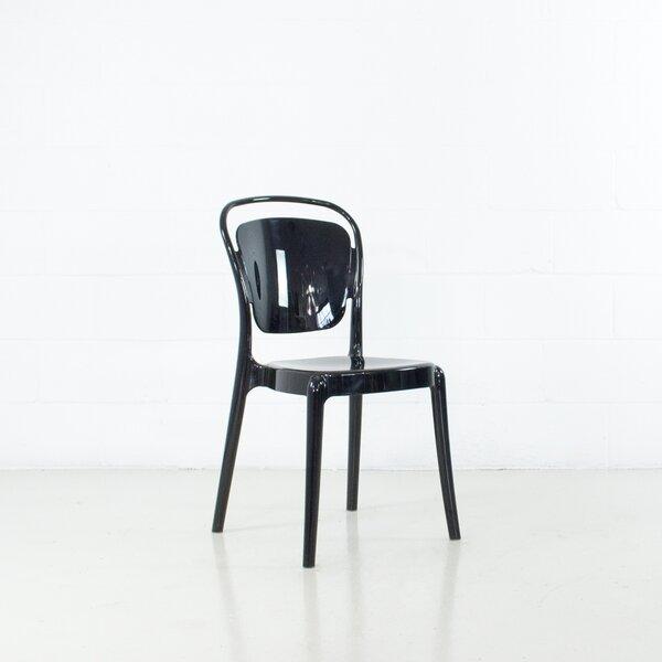 Ghantous Molded Stacking Patio Dining Chair (Set of 2) by Orren Ellis Orren Ellis