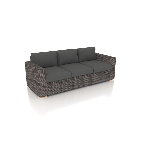 Holcomb Patio Sofa with Sunbrella Cushions by Rosecliff Heights