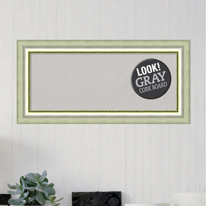 House of Hampton Framed Cork wall Mounted Bulletin Board | Wayfair