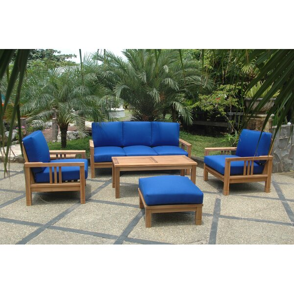 South Bay 5 Piece Teak Sofa Seating Group with Cushions by Anderson Teak Anderson Teak